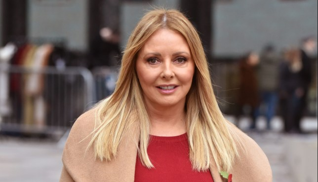 Carol Vorderman out and about