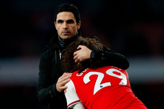 Arsenal boss Mikel Arteta and Matteo Guendouzi