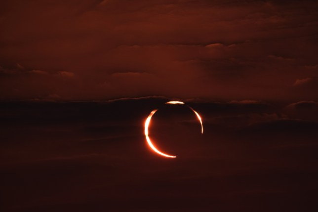A 'Ring of fire' solar eclipse