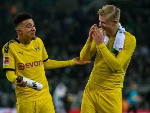 Erling Haaland heaps praise on 'amazing' Manchester United target Jadon Sancho