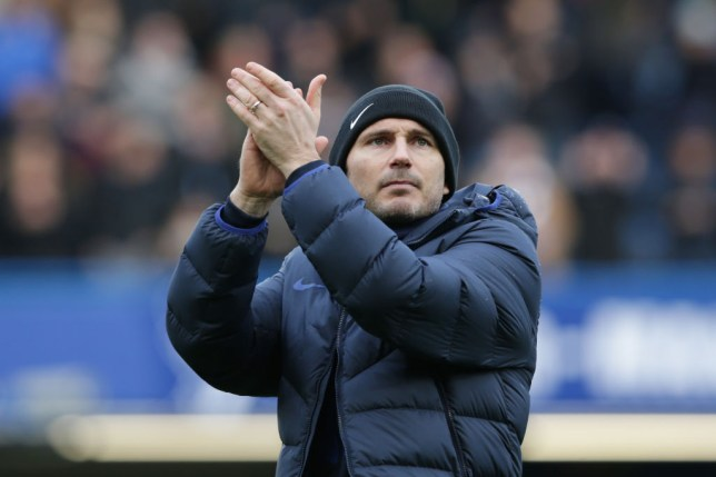 Frank Lampard of Chelsea after his sides 4-0 win during the Premier League match between Chelsea FC and Everton FC at Stamford Bridge on March 08, 2020 in London, United Kingdom.