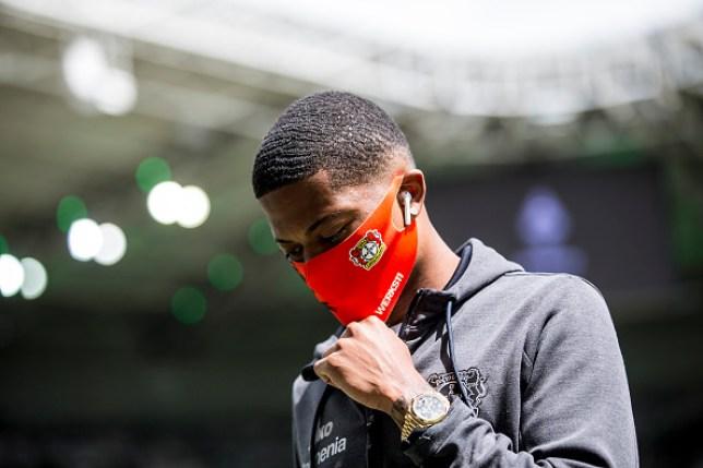 Leon Bailey before a game between Borussia Moenchengladbach and Bayer 04 Leverkusen