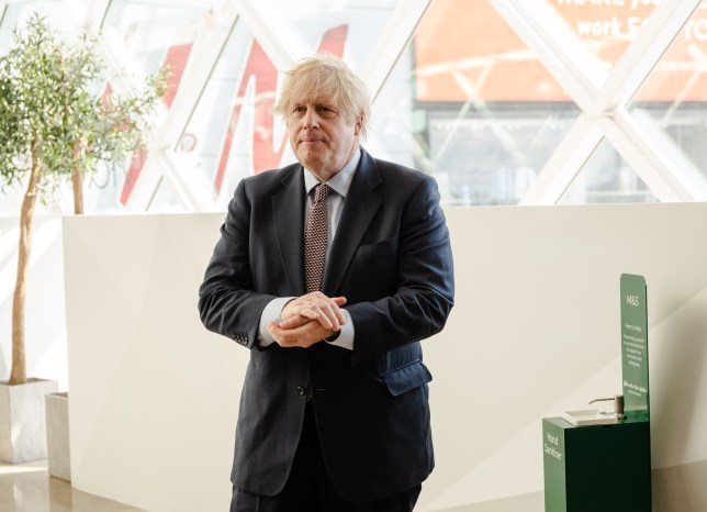 Boris Johnson Visits East London Shops As More Businesses Prepare To Reopen.