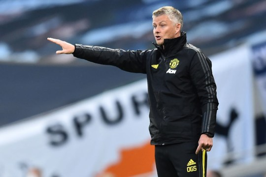 Manchester United's Norwegian manager Ole Gunnar Solskjaer gestures on the touchline during the English Premier League football match between Tottenham Hotspur and Manchester United at Tottenham Hotspur Stadium in London, on June 19, 2020.