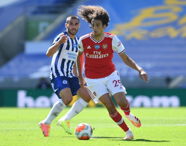 Guendouzi was aggrieved with Maupay's challenge on Leno