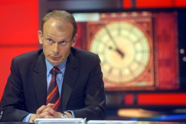 Andrew Marr in the BBC Election 2005 studio