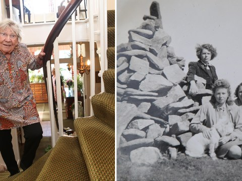 Great-gran, 90, raises £350,000 for NHS by scaling mountain on her staircase