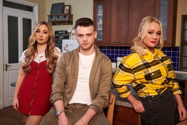 Peri, Jordan and Leela in Hollyoaks