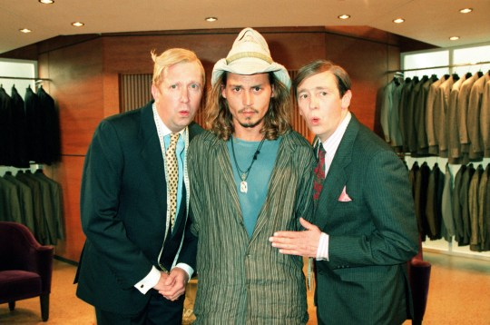 Mark Williams, Johnny Depp and Paul Whitehouse