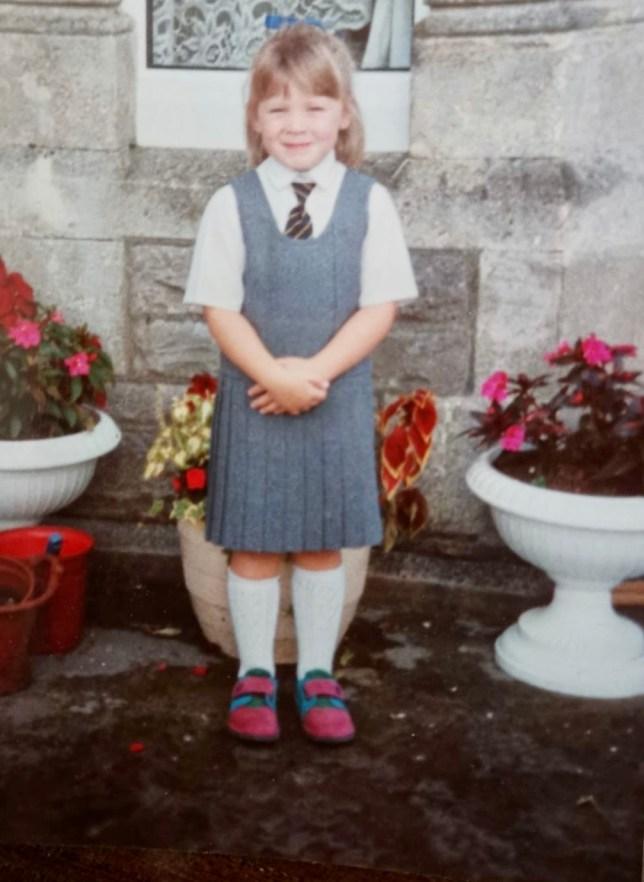 Jessica Carter as a child