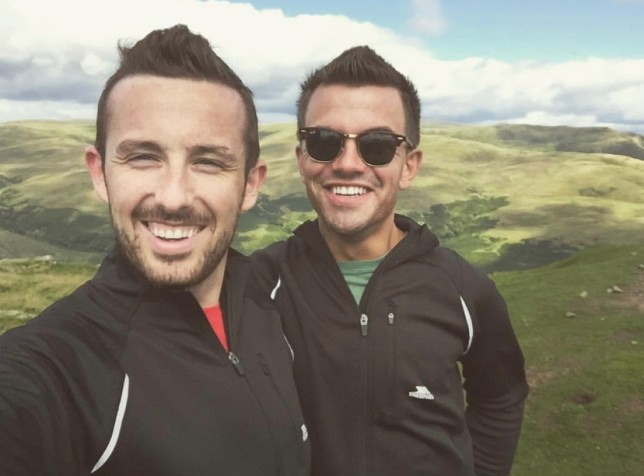 Daniel Lafferty with his partner