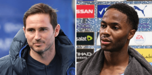 Frank Lampard praised Raheem Sterling for the role he has played in  speaking out against inequality in society