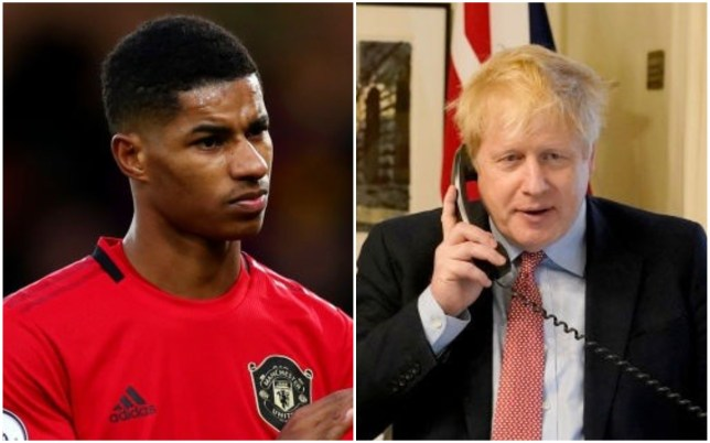 Marcus Rashford was personally thanked by Boris Johnson in a phone call