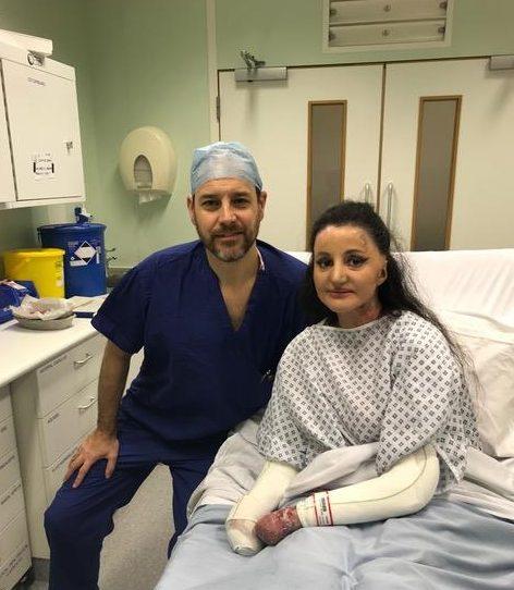 Myra Ali in hospital