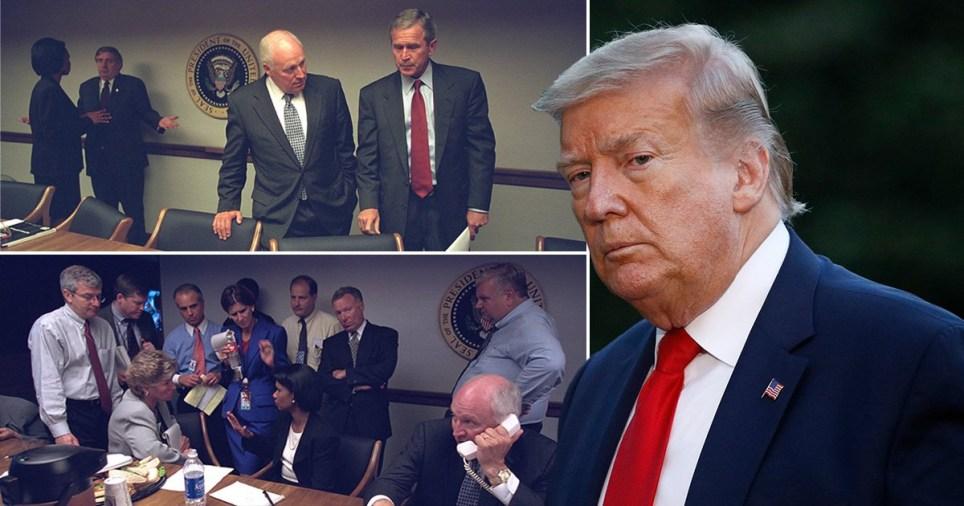 President Trump in bunker