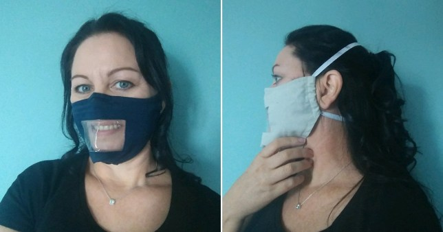Sonia Carley quit her job to make deaf friendly face masks
