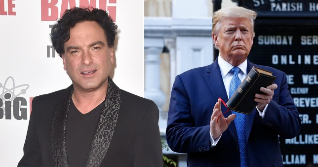 Johnny Galecki and Donald Trump