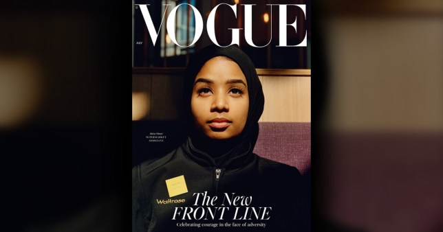 Muslim woman on cover of Vogue