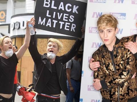 Jedward chant on moving cars at Black Lives Matter protest and people are pleasantly surprised