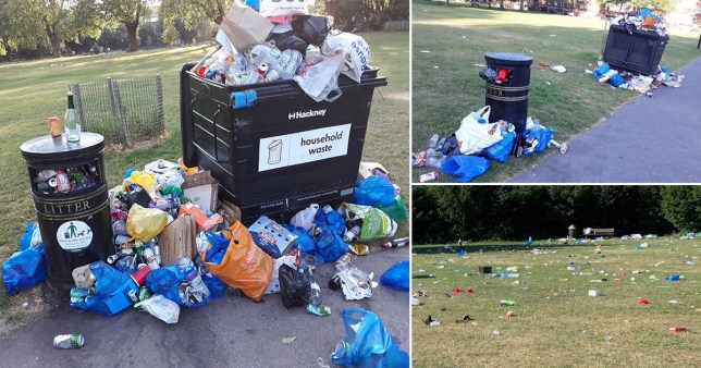 Hackney Council 'runs out of paper' from issuing so many fines people littering and urinating in parks