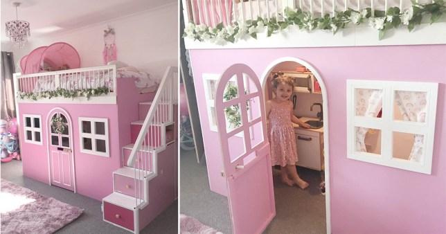 Eliza's new princess cottage bed
