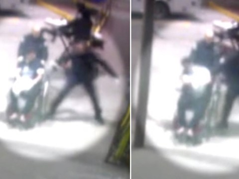 Shocking moment cop pummels wheelchair user for 'spitting' on him