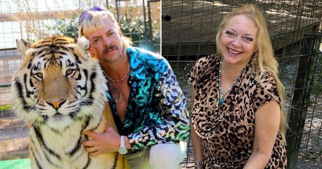 Tiger King's Joe Exotic and Carole Baskin