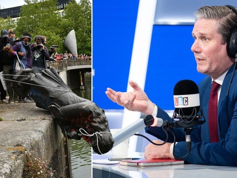 Keir Starmer says pulling down statue was wrong but it should have gone earlier
