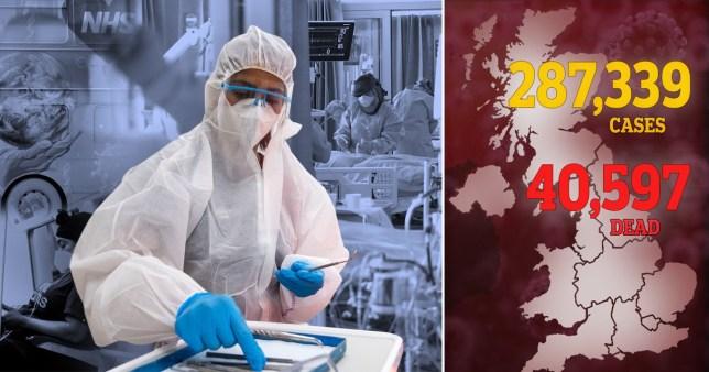 UK coronavirus death toll June 8.