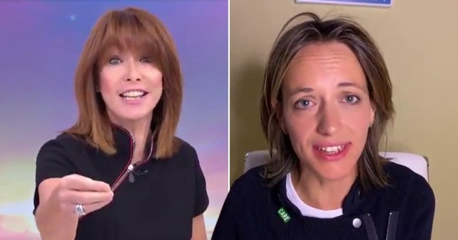 Kay Burley interviews health minister Helen Whately on Sky News on June 9, 2020 about a previous Government policy allowing patients to be sent back to care homes without being tested for coronavirus