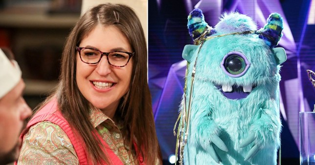 Mayim Bialik and Monster from The Masked Singer US