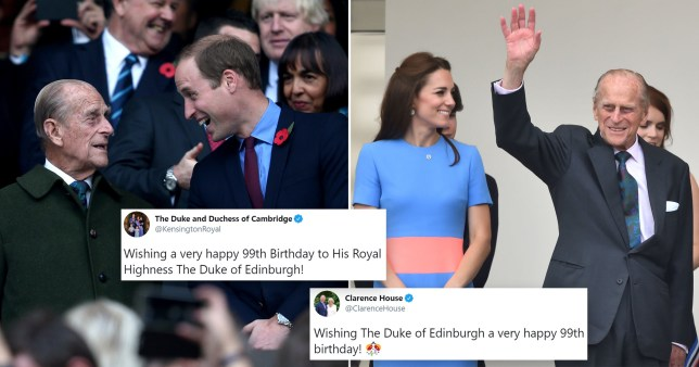 Tweets wishing Prince Philip a happy birthday
