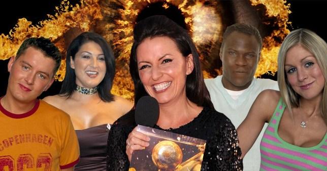 Davina McCall and Big Brother housemates