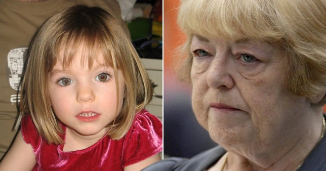 Madeleine Mccann (left) and grandmother Eileen McCann (right)