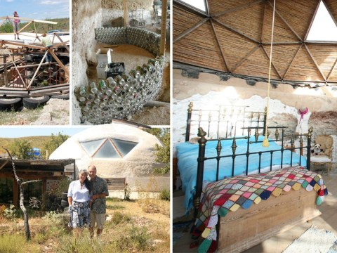 Couple build eco-friendly dream home entirely out of rubbish