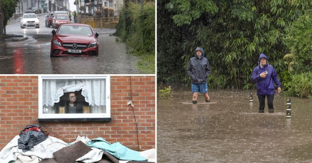 Flooding in South Wales in mid June 2020