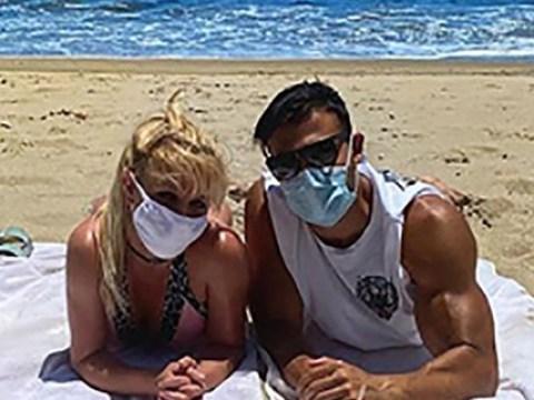 Britney Spears masks up for cute beach date with boyfriend Sam Asghari