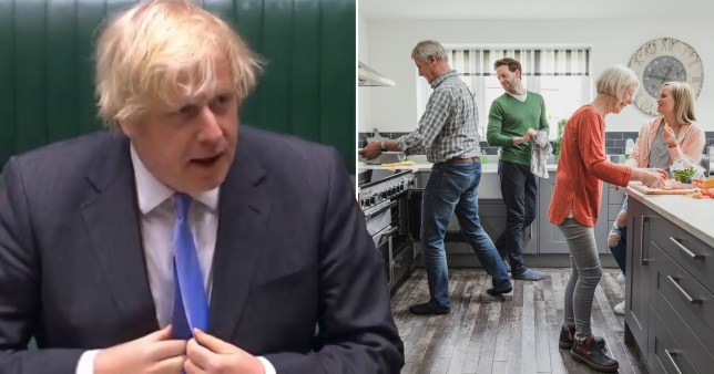 Boris Johnson has announced that from July 4, two households of any size will be able to mix indoors at a time
