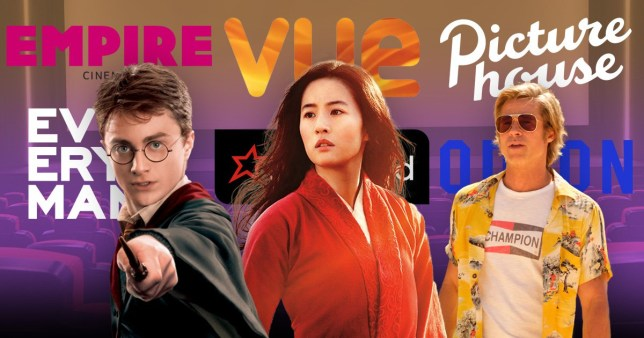 Harry Potter, Mulan and Brad Pitt in Once Upon A Time in Hollywood pictured alongside each other