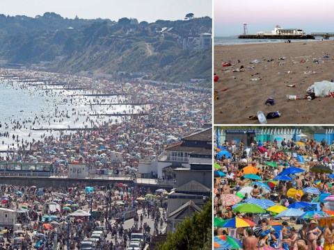 Thousands swarm England's beaches as temperature record set to be broken