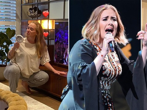 Adele watches her own 2016 Glastonbury headline set after '5 ciders' as fans rave about how brilliant it was