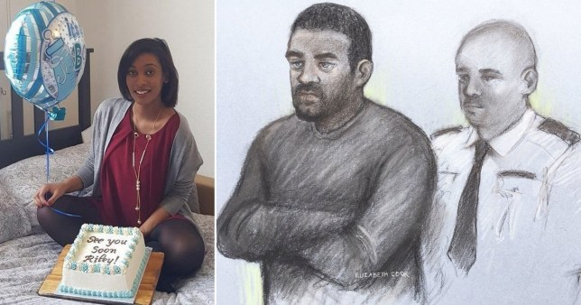 Composite image of court sketch of Aaron McKenzie and Kelly Fauvrelle