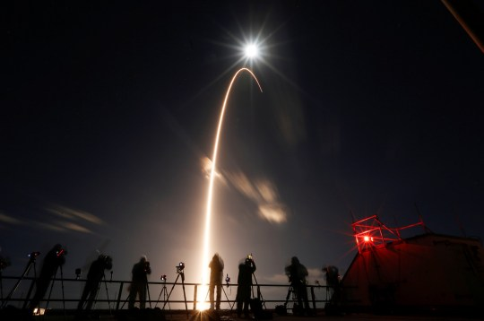 The Solar Orbiter spacecraft, built for NASA and the European Space Agency, lifts off from pad 41 aboard a United Launch Alliance Atlas V rocket at the Cape Canaveral Air Force Station in Cape Canaveral, Florida, U.S., February 9, 2020. (Reuters)
