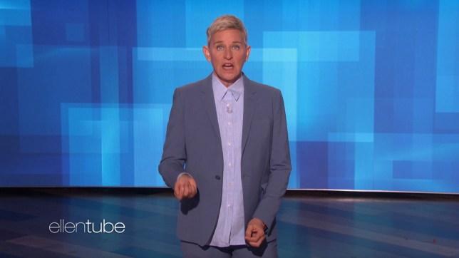Ellen DeGeneres hosting The Ellen Show