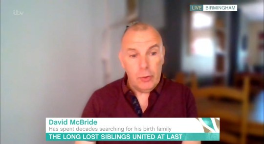 Mandatory Credit: Photo by ITV/REX (10665448z) David McBride 'This Morning' TV show, London, UK - 01 Jun 2020