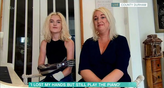 Mandatory Credit: Photo by ITV/REX (10666558af) Tilly Lockey 'This Morning' TV show, London, UK - 02 Jun 2020