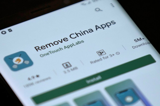 It's not even clear how it detects which apps come from China (Credits: REUTERS)