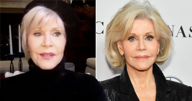 Jane Fonda pictured on CNN Tonight and on the red carpet