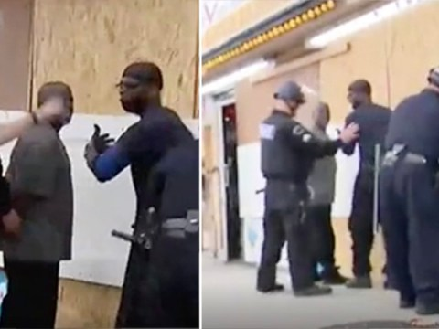 Moment police mistakenly cuff black Good Samaritans trying to protect store from looters