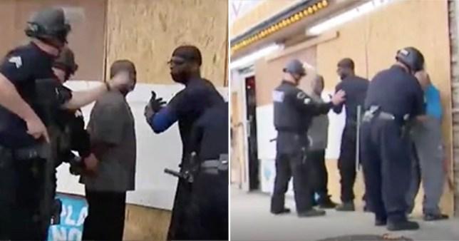 Moment police mistakenly handcuff black Good Samaritans live on TV